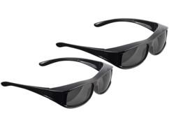 2 surlunettes de soleil polarisantes à contraste accentué et protection UV 380