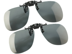 2 verres de lunettes amovibles à clipser ''Allround''