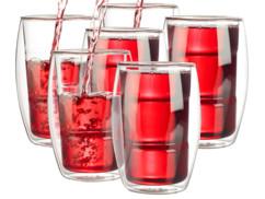 6 verres double paroi - 38 cl