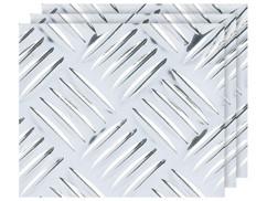 3 autocollants décoratifs ''Effet métal'' 40 X 100 cm