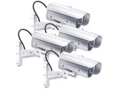 4 caméras de surveillance factices avec détecteur PIR et signal LED