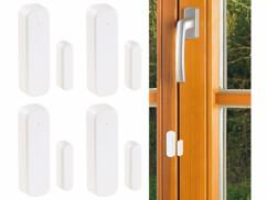 4 capteurs sans fil portes et fenêtres pour système d'alarme XMD-5400 - Compact