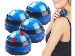 4 masseurs roll-on avec support rotatif 360° - Bleu