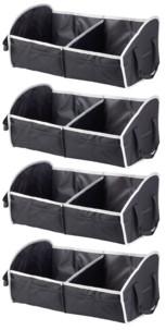 4 sacs de rangement pliable pour coffre de voiture