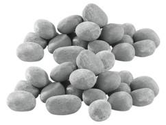 48 pierres décoratives grises pour cheminée au bioéthanol - Gris
