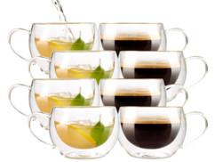 8 tasses double paroi - Café long ou thé