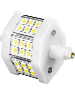Ampoule 18 LED SMD High-Power R7S blanc froid