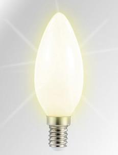 Ampoule bougie à LED SMD - E14 - 3W - blanc chaud
