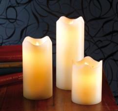Bougies en cire à LED avec flamme vacillante