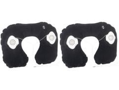 2 coussins tour de cou gonflables avec haut-parleurs stéréo intégrés
