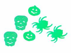 Décoration de table Infactory cofettis d'Halloween en plastique.