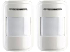 2 détecteurs de mouvement PIR sans fil pour système d'alarme XMD-5400