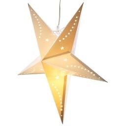 Étoile de Noël lumineuse en papier - 60 CM - blanche