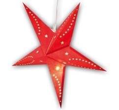 Étoile de Noël lumineuse en papier - 60 CM - rouge