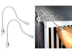 2 lampes de chevet murale à col de cygne et port de chargement USB
