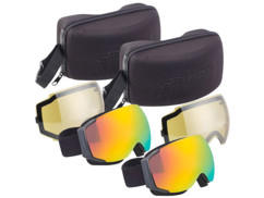 2 masques de ski antibuée sans cadre avec double écran