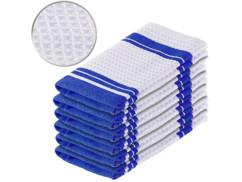 6 torchons en microfibres spécial vaisselle