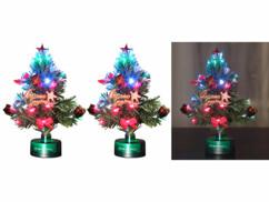 2 sapins de Noël à piles