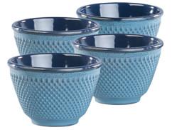Set de 4 tasses à thé style Arare japonais - Bleu