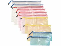 10 pochettes avec fermeture à glissière