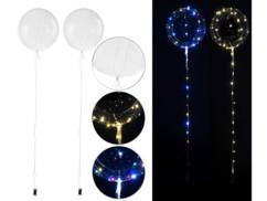 2ballons transparents Ø 30cm avec guirlandes lumineuses