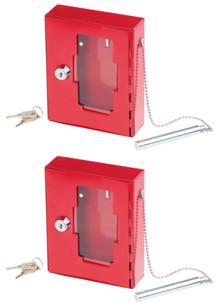 2 boîtes à clés de secours professionnelle avec vitre et marteau d'urgence