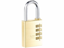 Cadenas solide à code en laiton 4 chiffres à double verrouillage par AGT