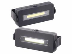2 lampes de travail magnétiques et orientables LED COB 100 lm
