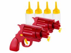 2 pistolets pour ketchup, moutarde et sauces