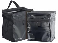 2 poubelles pliables antifuite et refermables pour voiture ou camping car - 10 L