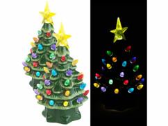Lot de 2 sapins de Noël à LED Infactory en céramique.