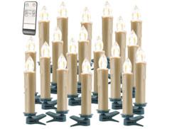 20 bougies LED sans fil  XMS-35.r - Doré