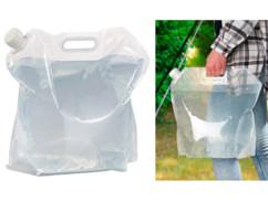 Bidon à eau pliable 10L avec poignée de transport, sans bisphénol A