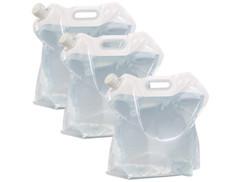3 bidons à eau pliables 10 L avec poignée de transport, sans bisphénol A