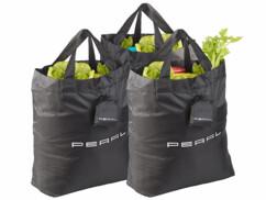 3 sacs de courses pliables avec housses de protection