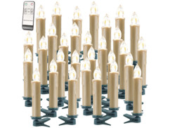Lot de 30 bougies à LED dorées modèle XMS-35.r Lunartec.