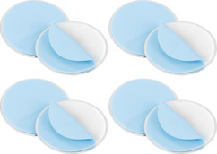 4 fixations magnétiques pour détecteurs de fumée Ø 70 mm