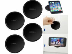 4 supports avec patchs en gel auto-adhérent pour smartphone