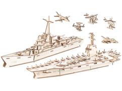 Sept maquettes 3D en bois par Infactory.