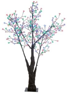 Arbre à LED, 180 cm avec 336 fleures lumineuses multicolores - IP44