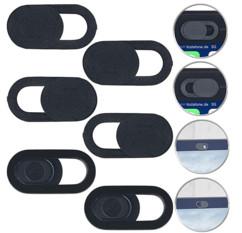 6 caches pour webcam d'ordinateur portable autoadhésifs - Plastique