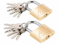 2 cadenas à clé en laiton - 48 mm