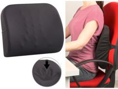 Coussin ergonomique dorsal en mousse à mémoire de forme avec sangle