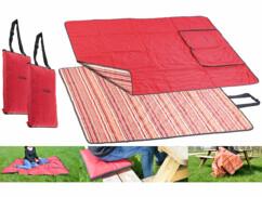 2 couvertures de pique-nique 3 en 1 - 150 x 180 cm