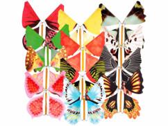 Lot de 12 papillons géants en papier