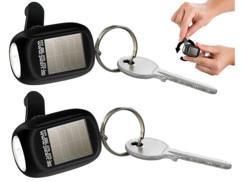 2 mini lampes de poche solaires