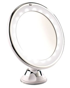 Miroir grossissant lumineux LED - Avec ventouse