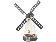 Moulin décoratif solaire à LED Lunartec.