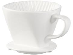 porte filtre en porcelaire pour café moulu pour toute cafetière