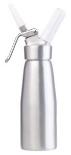 siphon en métal pour chantilly creme fouettee avec cartouche de gaz capacité 250cl 500 cl 1 litre